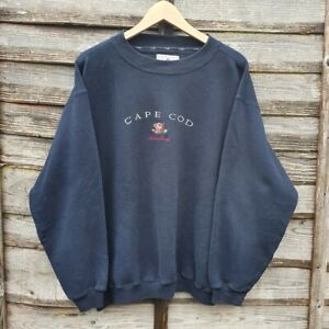 Vintage Cape Cod Heavily Embroidered Sweatshirt From Massachusetts USA