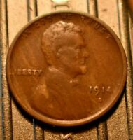 Higher Grade!  1914-S Lincoln Wheat Cent 1c with Faint Woodie Error.  (#5848)