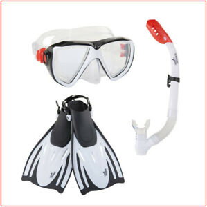 4 Pieces - Speedo ADULT Hydroscope PERFORMANCE Snorkel  FINS MASK - S/M or L/XL