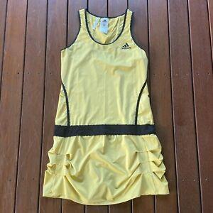 Adidas Size 12 Tennis Dress Yellow Womens Active Wear