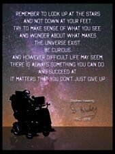 STEPHEN HAWKING 1942 - 2018 - A3 QUOTE PRINT