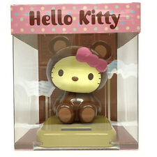 "Sanrio Hello Kitty Solar Powered Toy - Chocolate Bear Costumed 5.25"" (5c95)"