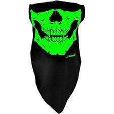 Schampa Glow in the Dark Skull Stretch Half-Face Mask One Size Riding Coverage