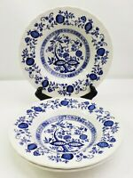 Royal Wessex Blue Onion Soup Bowls Set Of 3 Made In England