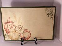 """HARVEST Pumpkin Placemat Set (4) Fall Thanksgiving 17.75"""" X 11.75"""""""