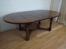 Fine Quality Solid Oak Extending Refectory Dining Table ref8585