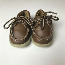 Baby Toddler Boy Cherokee Brown Leather Loafer Shoes Size 5