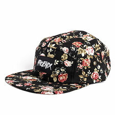 Phoenix Black Beauty III 5 Panel Cap Hat Blumenmuster Five Casquette Roses