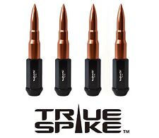 """32PC VMS RACING 112MM 9/16"""" STEEL LUG NUTS W/ ROSE GOLD EXTENDED BULLET SPIKES"""