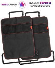 Lot de 2 Tapis de siège de voiture avec 3 poches en tissu imperméable,sans odeur