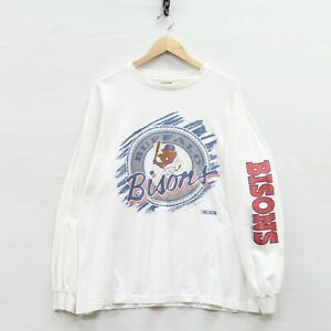 Vintage 1992 Buffalo Bisons Trench Long Sleeve Shirt Size XL 90s MILB Minors