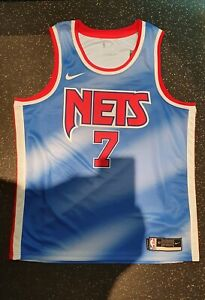 Kevin Durant Brooklyn Nets Team Nike Swingman blue away hardwood classic jersey