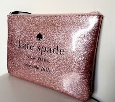 BUY IT NOW!!! NWOT Kate Spade Holiday Rose Gold Glitter Oversized Pouch Clutch