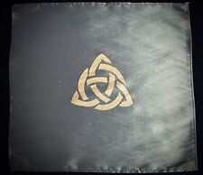 Mini ALTAR CLOTH Wicca Pagan Triquetra Witchcraft Travel Altar
