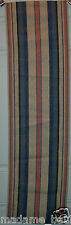 Blue, Pink & Oatmeal Vintage Swedish Woven Table Runner 47 x 12 ~ Estate