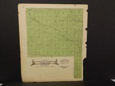 Nebraska Boone County Map Oakland Township  c.1918  J14#56