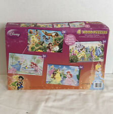 Disney  Princess Wood Puzzle 4 Pack Puzzle Preowned