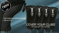 HYBRID HEAD COVERS FULL COMPLETE 4 5 6 7 SET NEW THICK GOLF CLUB BLACK HEADCOVER