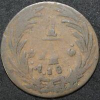 1836 | Mexico ¼ Real Error Coin | Copper | Coins | KM Coins