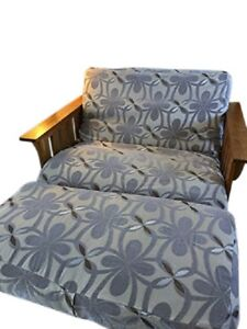 OctoRose Chenille Grey Chair Cushion Cover Futon Cover Chair and Ottoman Covers