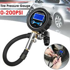 Digital Tyre Tire Pressure Gauge Air Inflator Pump 0-200PSI Vehicle Autocycle