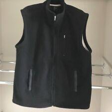 Mens size L Target brand Polar fleece zip up vest*full lined*black*AS NEW COND