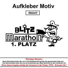 BLITZ MARATHON Autoaufkleber Aufkleber Fun Spaß Sticker Tuning Lustige Sprüche