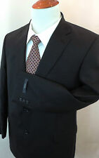 Size 56 P NEW WT HICKEY BY HICKEY FREEMAN BLAZER 100 % WORSTED WOOL SOLID BLACK
