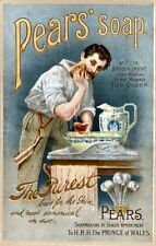 Pears Shaving Soap reproduction Advertising Poster A4 photo man