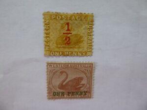 W Australia Swansm/mint singles overprints