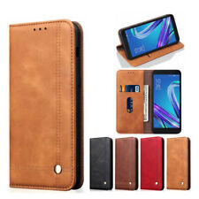 For Asus Zenfone Live(L2)Retro Magnetic Flip PU Leather Wallet Case Stand Cover