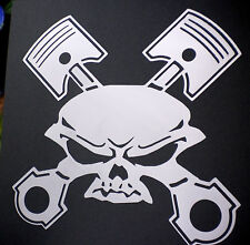 high detail airbrush stencil  skull  crosspistons FREE UK POSTAGE