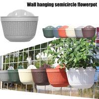 HOT Wall Hanging Flower Pots Garden Fence Balcony Basket Plant Pot Planter Deco