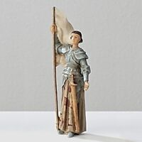 Joan of Arc in Armor with Flag Patrons and Protectors Figurine
