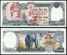Nepal 1000 rupees 1985-90 King Birendra P36a(3) Sign Thapa Large Serial aUNC