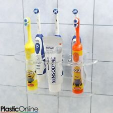 Wall Mounted Electric Toothbrush Holder 5x Toothbrush Stand In Clear