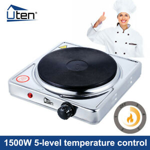 Single Hot Plate Portable Table Top 1500W Electric Cooker Stove Kitchen Utensils