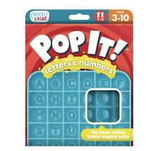 Pop It Chuckle & Roar Letters and Numbers Educational Learning Game Tik Tok