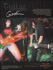 Dave Ball & John Helmig (Crownevict) Godin LGX-SA guitar ad 8 x 11 advertisement