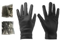 Unisex Warm Leather Gloves Fleece Lined Driving Winter Waterproof Soft Glove