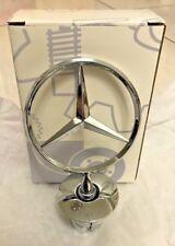 3D Chorme Zinc Alloy Front Hood Star Emblem Badge Ornament Fit Mercedes Benz box