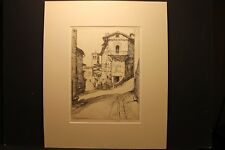 "Ernest David Roth N.A., 1879 - 1964, "" Street In Assisi,1935 "",P/S Etching 1935"
