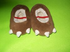 Toddler Brown Dinosaur Slippers ~ Toddler size 2 - 3T