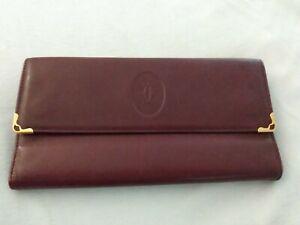 Cartier Women's Brown Leather Long Wallet