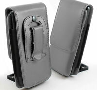PU Leather Vertical Faux Belt Holster Case Cover for Doogee Phone Models