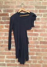 Damir Doma Womens Dress, Black Jersey Distressed Sz 44