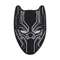 Black Panther Face Superhero Logo Patch Iron On Sew On Badge Embroidered Patch