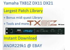 Yamaha TX81Z DX11 DX21 - Patches Sound Banks (.Syx) and more - Instant Download
