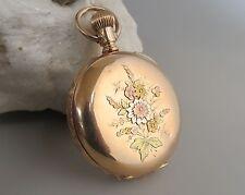 Elgin Model # 1 pocket watch # 402263 1875 7 jewel hunter case floral
