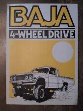 BAJA 4 WHEEL DRIVE for MAZDA DATSUN & TOYOTA PICK UPS orig 1970s UK Mkt Brochure